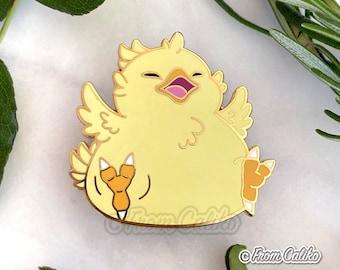 Fat Chocobo Hard Enamel Pin - Final Fantasy