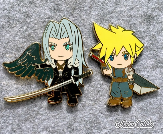 Yuffie Aerith Tifa Final Fantasy VII 7 FF7 FFVII Enamel Pins
