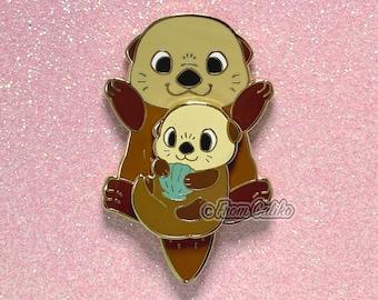 Mama Otter Pin - Sea Otter Hard Enamel Pin Momma Otter Mom