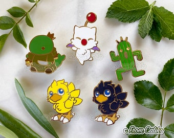 Final Fantasy Enamel Pins - Cactuar Chocobo Moogle Tonberry King