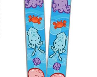 Adorable Underwater Octopus and Squid Lanyard