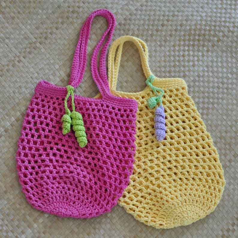 Pdf Small Jemmas Market Bag N Mesh Tote Crochet Pattern Etsy