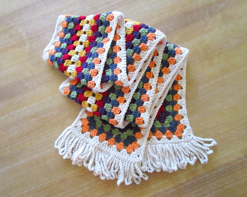 PDF Fall for Granny Scarf Crochet Pattern image 0