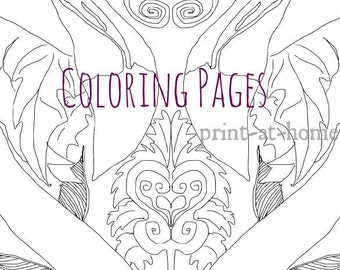 Flamingo Adult Coloring Page 5 Instant Download Art Print Stay Weird Gift Printable Sheet Animal