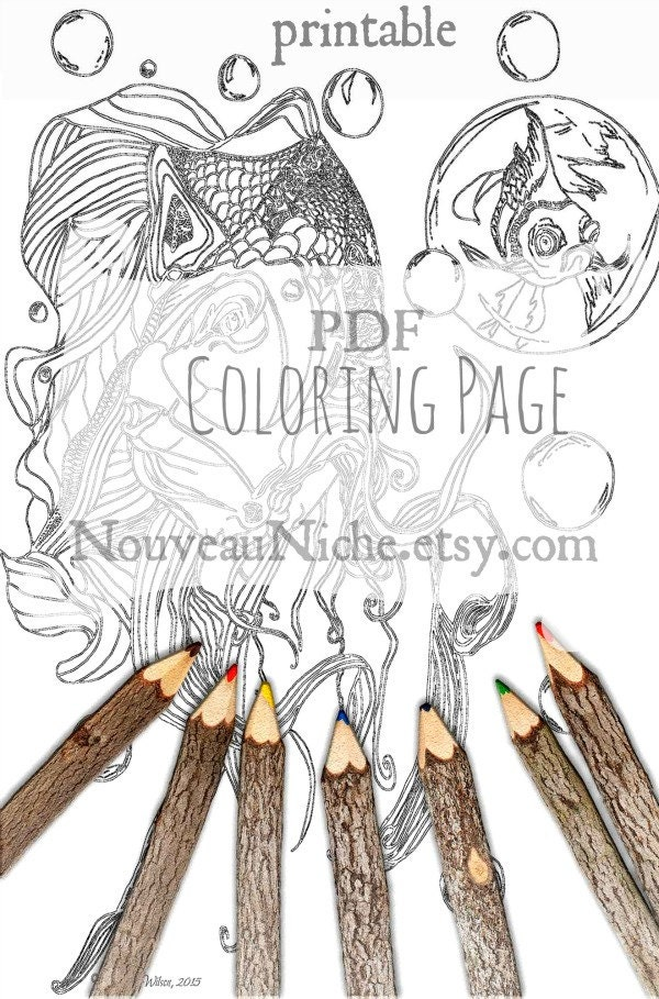 Adult Coloring Page Printable Sheet Mindfulness Gift