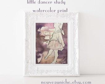 Paris Watercolor Print Bedroom Decor, Paris Sketch Art Dancer Wall Art Prints, Unique Gift for Teen, Inspirational Art
