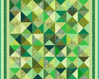 GREEN ACRES 2 - Pre-cut Quilt Kit - All Sizes - by Quilt-Addicts **