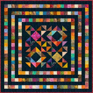 82x 64 King Single or 64x 46 Single FREE YOUR MIND 13 colours Quilt Addicts Pre-cut Patchwork Quilt Kit or Finished Quilt