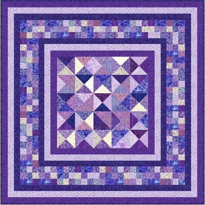 OPHELIA Quilt-Addicts Pre-cut Patchwork Quilt Kit or Finished Quilt 67x 67 Small Double or 55x 55 Lap