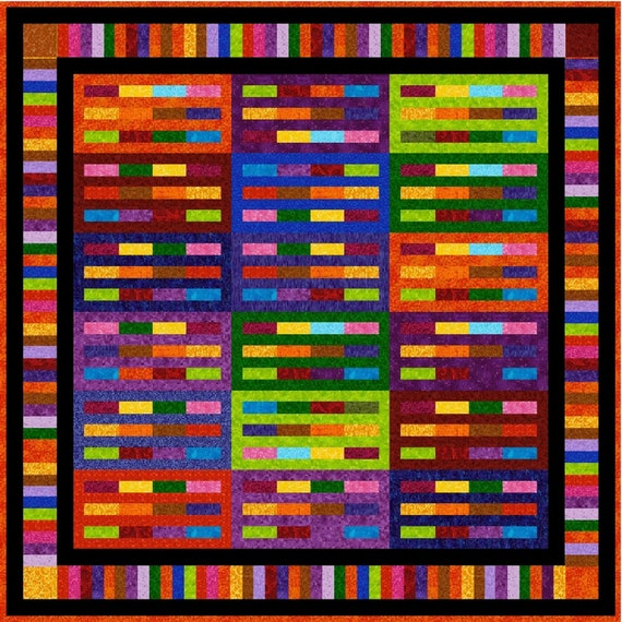 Quilt-Addicts Pre-cut Quilt Kit or Finished Quilt SIMON SAYS Double 69x 69 or Lap 55x 55