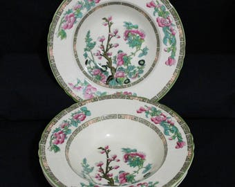 Set of 4 Myott Staffordshire INDIAN TREE Coupe Soup Bowls