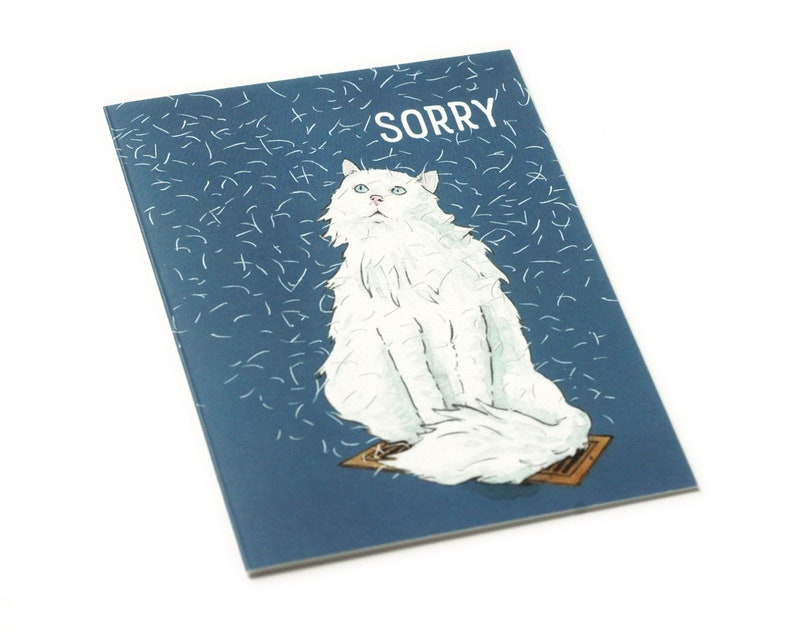 Funny Apology Card i/'m sorry Blank Inside  sorry card forgive me illustrated greeting card sweet friend card