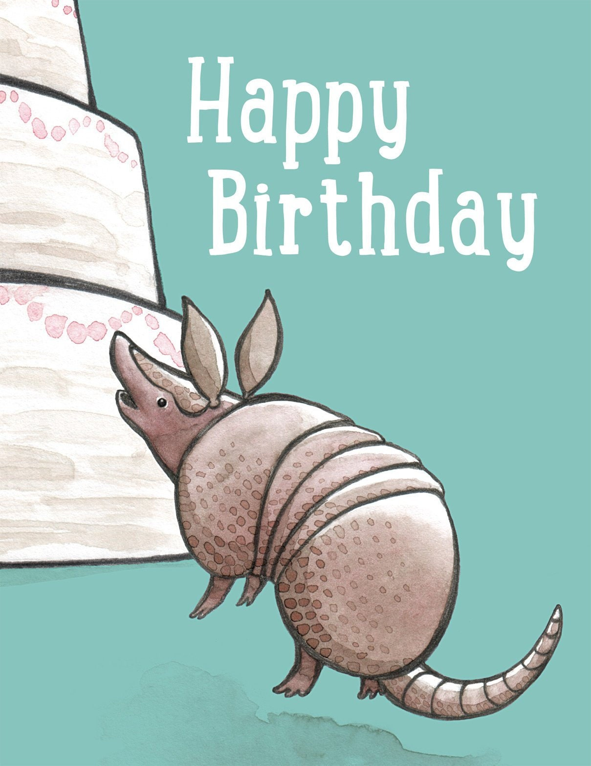 Cute Animal Birthday Card Blank Inside Card For Kids