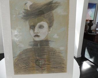Helene Wilder fine art drawing signed