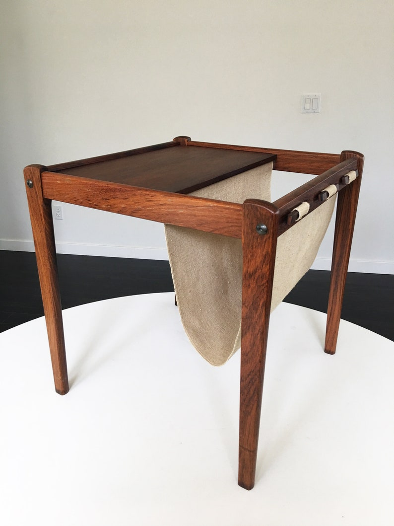 Aparte Side Table.Mid Century Side Table Rosewood Danish Side Table With Magazine Rack From Brdr Furbo