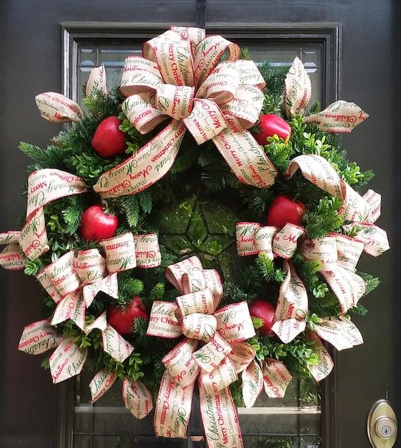 image 0 - Burlap Christmas Door Decorations