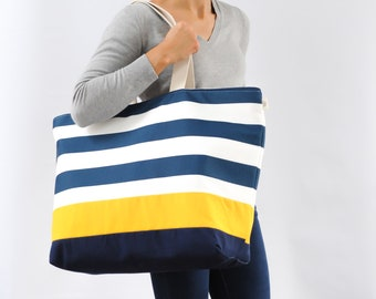 EXTRA Large Canvas Tote - Beach Bag.  Made in USA