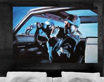 Snoop Dogg Painting Pop Art Canvas Print