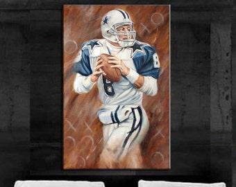 7915e1767f4 Dallas Cowboys art Troy Aikman Painting