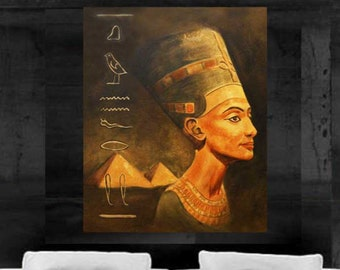 Egyptian painting Pyramid African art canvas print