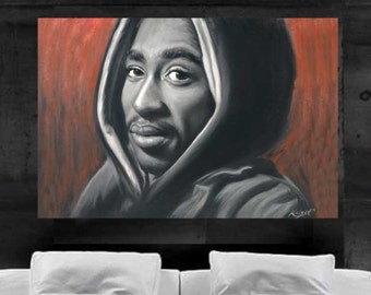 2pac Painting Pop Art Canvas Print