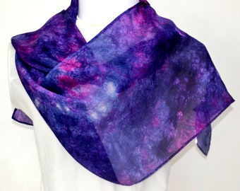 Silk Scarf, Scarf, Hand dyed, 64 x 10.5 inches, Ready to Ship, Gift for Her, Scarf for Women Made in Australia, SallyAnnesSilks S189
