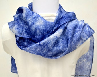 Silk Scarf, Hand dyed Scarf, Silk Scarf, Gift for Her, Ready to ship, Made in Australia, 72 x 10 inches, SallyAnnesSilks  S187