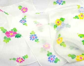Silk Handkerchiefs, Handkerchief for Women, Silk Hankies, 11 x 11 inches, Made in Australia, Gift for Her, SallyAnnesSilks  H1