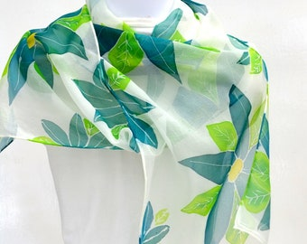 Hand Painted Silk Scarf, Silk Scarf Women, 56 x 10 inches, Made in Australia, Wearable Art, Gift for Her, SallyAnnesSilks  HP36