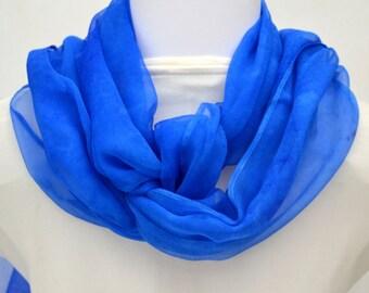Silk Scarf, Silk Gauze Scarf, Evening Wrap, 88 x 17.5 inches, Ready to Ship, Gift for Women, Made in Australia, SallyAnnesSilks S188