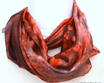 Hand dyed Silk Scarf, Gift for Her, Ready to Ship, Wide Scarf, 65 x 14 inches, Made in Australia SallyAnnesSilks on Etsy S184