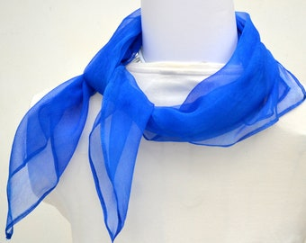 Silk Scarf, Bandana, Hand dyed Scarf, 23 x 23 inches, Made in Australia, Ready to Ship, Gift for her, SallyAnnesSilks  BS16