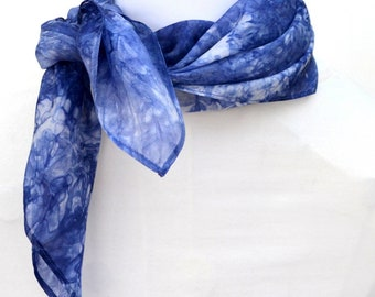 Silk Scarf, Bandana, Hand dyed Scarf, 23 x 23 inches, Made in Australia, Ready to Ship, Gift for her, SallyAnnesSilks  BS15