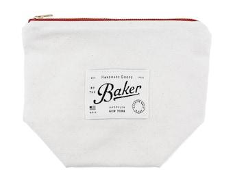Natural Canvas Zipper Pouch, Canvas Makeup Bag, Mens Toiletry Bag, Canvas Travel Organizer, Durable + Easy Design