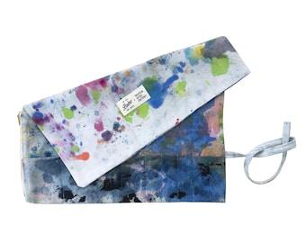 Dropcloth Canvas Tool Roll, Canvas Pencil Case, Roll Up Pencil Case, Artist Pencil Roll Gifts for Artist, Makeup Travel Bag Cord Organizer