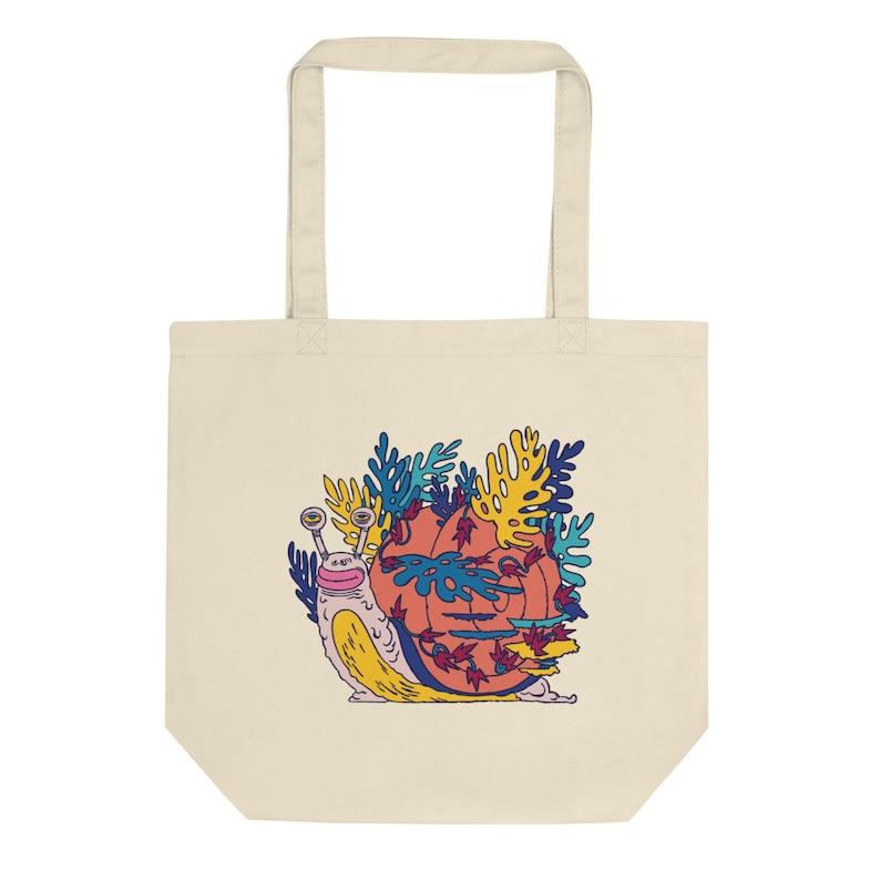 Canvas Shopping Bag Durable Shoulder Strap Tote Design Gale The Snail Canvas Tote Bag Cotton Canvas Tote Bag