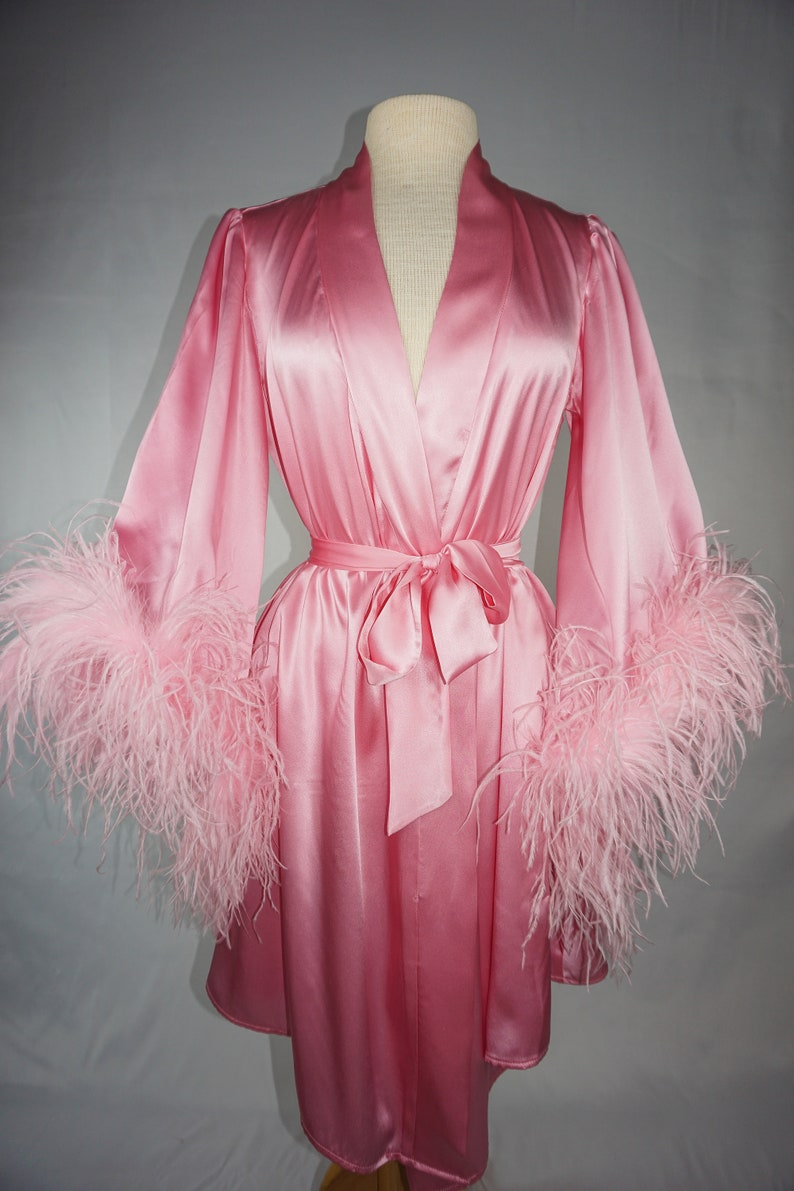 6dd09fe275 Hollywood Royalty Silk and Ostrich Feather Robe  birthday gift