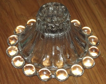 Vintage Clear Glass Boopie Candle Holder