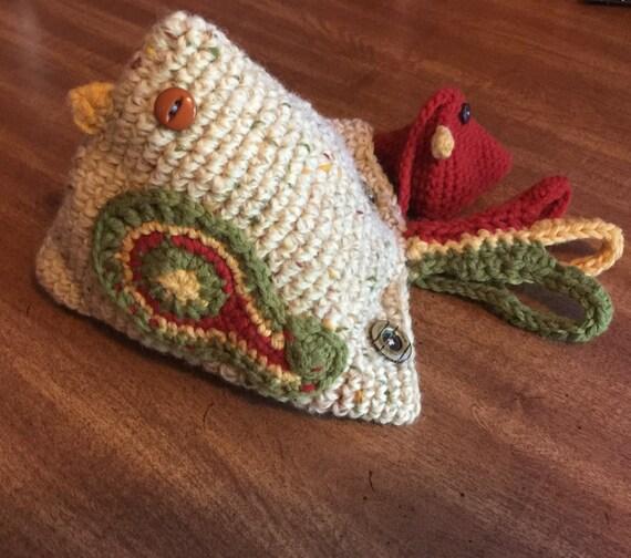 Huhn Küken-Tasche Tasche Henne häkeln Geldbörse Set | Etsy