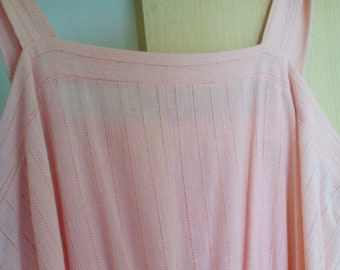 Sale Vintage 1980s salmon pink Sun dress