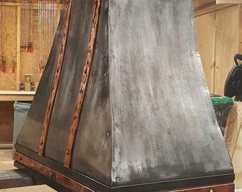 Rustic Range Hood Reclaimed Barn Wood Range Hood W Steel