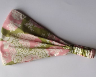 Yoga Headband Cotton Bandana - Hushabye Docky Dot in Sage by Tula Pink fabric
