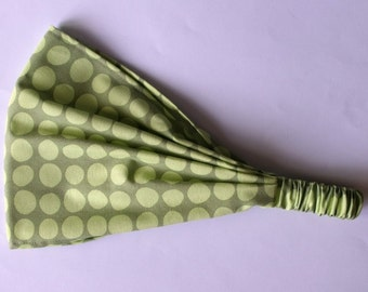 Headband - Amy Butler Sunspots in Olive fabric
