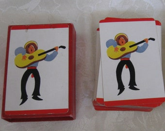 Vintage Playing Cards Mexican Man Singing