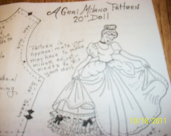Geri Milano Doll Clothes Pattern 14 to 15 in.