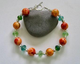 Colors of Fall Bead Bracelet