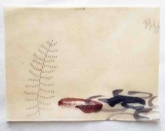 Floating Landscape / Mixed Media Daily Drawing / Daily Drawing Project / January 1, 2018
