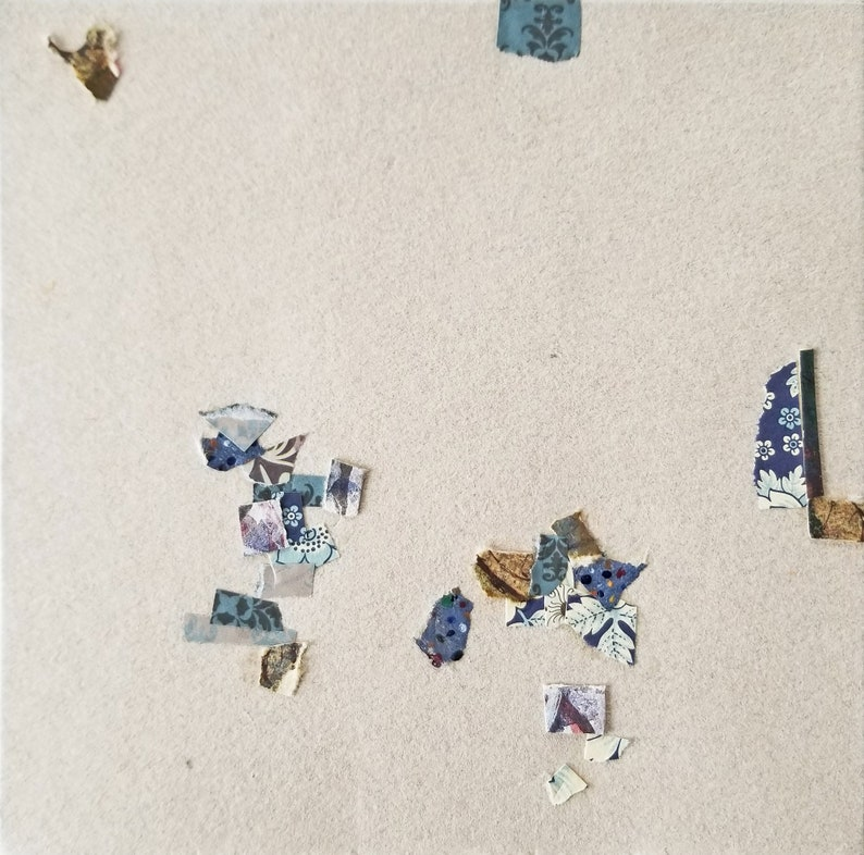 Paper Garden no. 1 / Abstract Collage on Handmade Paper image 0