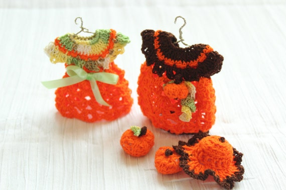 Häkeln Sie Herbst-Miniatur Halloween Kleid und Hut Häkeln | Etsy