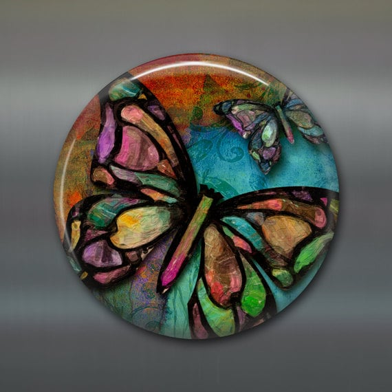 Butterfly Decor Colourful Butterfly Magnet Butterfly